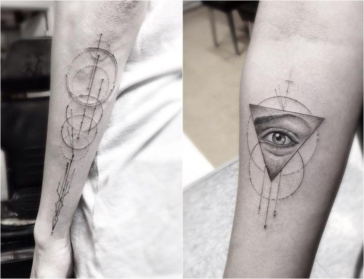 Tattoo Motive für den Arm aus geometrischen Formen