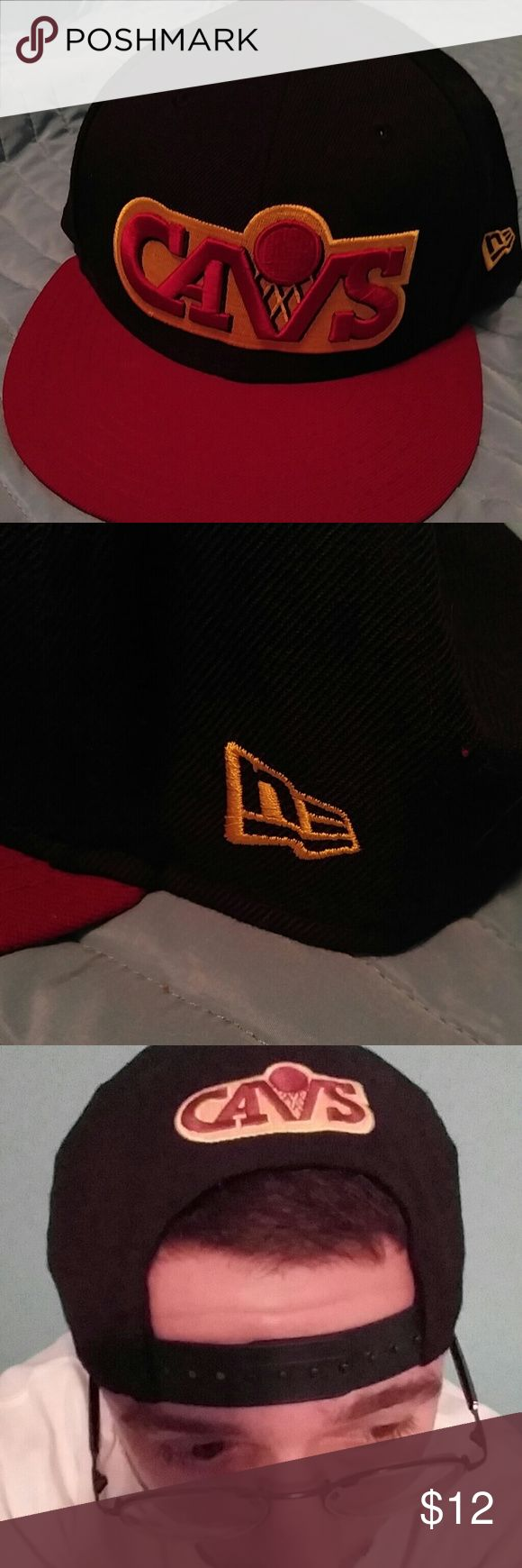 *SALE* New Era Cleveland Cavaliers snapback hat Officially liscensed New Era Cavs hat from their Hardwood Classics line. This is a navy hat, and despite the throwback logo it is true to the Cavs current blue/maroon/gold color scheme. This hat was bought new, barely worn, and is in fantastic shape. New Era Accessories Hats