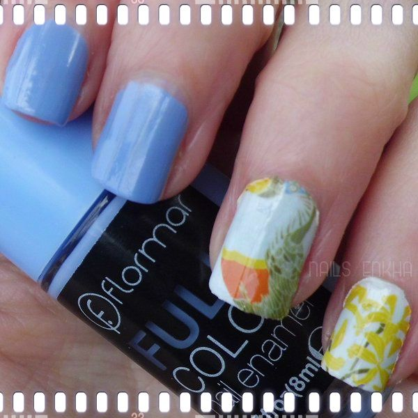 NAIL ART PEACOCK FLOWER http://nailenkha.blogspot.com.es/2016/03/nail-art-peacock-flower.html #bornprettystore #bornpretty #bps #waterdecals #flormar #blue #nails #notd #manicure #nailart #polish #nailspolish #nailartadict #cutepolish #cool #fashion #nailideas #manicura #esmalte #uñas #unhas #blog #blogguer #blogasturias #bloggerasturias #beauty #beautyblog