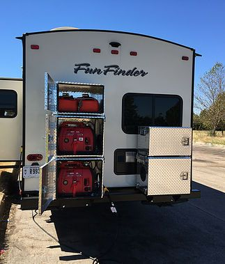 Generator Boxes for Travel Trailers