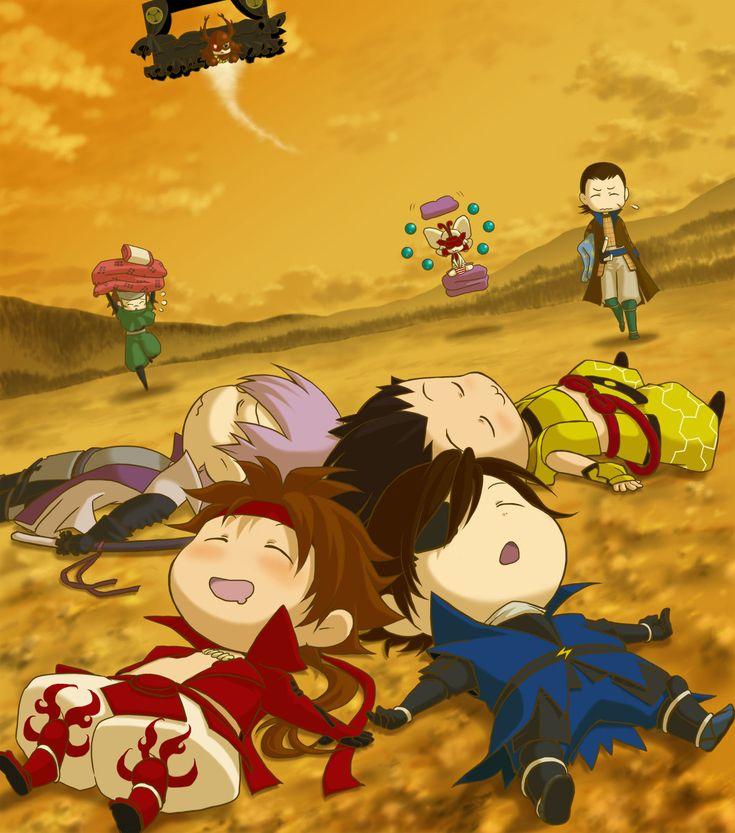 Tags: Fanart, Sengoku Basara, Date Masamune (Sengoku Basara), Sanada Yukimura (Sengoku Basara), Katakura Kojuurou, Sarutobi Sasuke, Tokugawa...