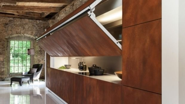 This kitchen has a surprising trick - a disappearing act.