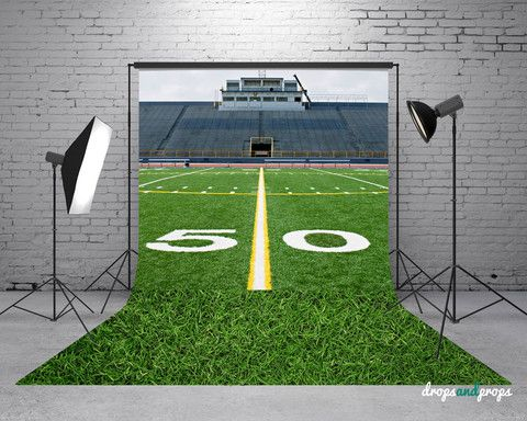 Football Field & Grass - Photography Backdrop