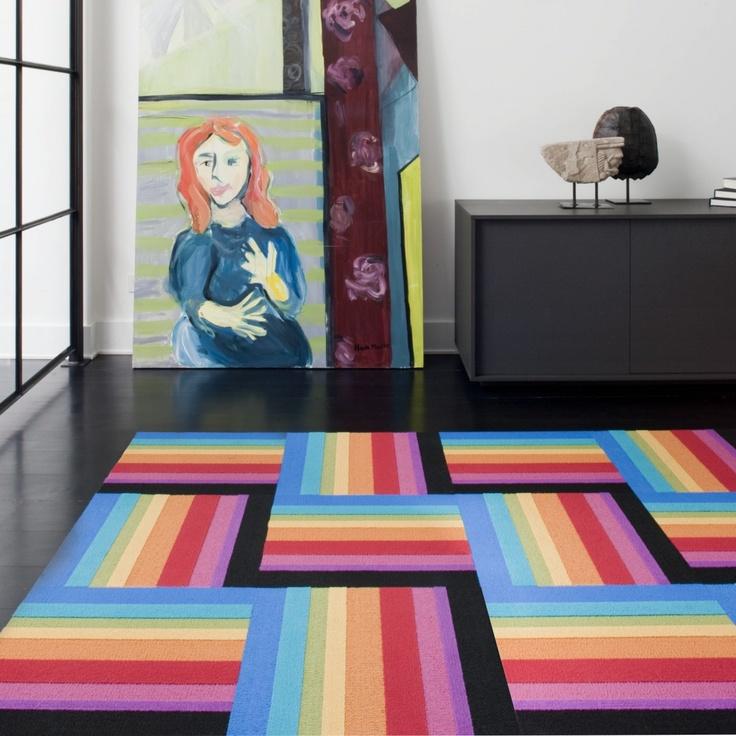 Rainbow carpet tiles by FLOR
