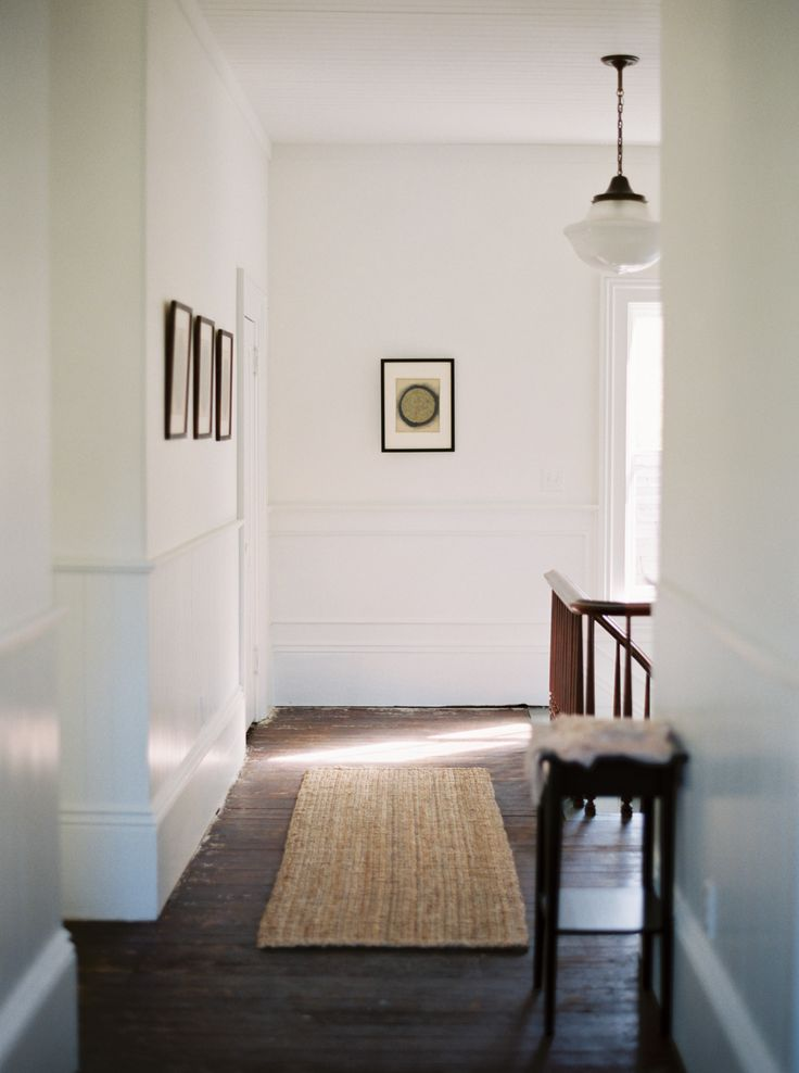 :: Havens South Designs :: loves the simple, inexpensive look of high baseboards and applied moldings