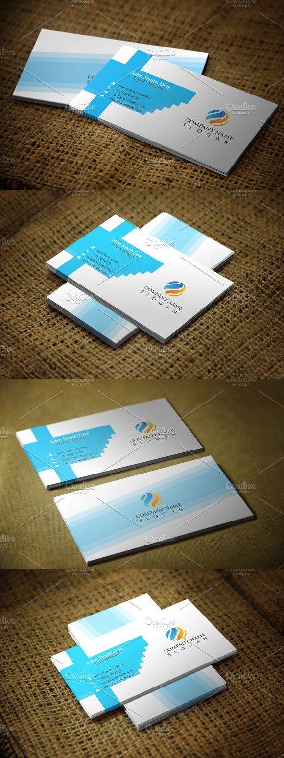 Modern Corporate Business Card Corporate Business Card Business Card Design Business Card Template Design