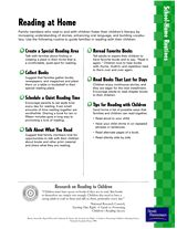 Tips for fostering good reading habits at home (for parents)