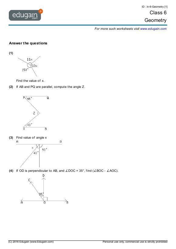 25 Geometry Worksheets Grade 7 With Images Geometry Worksheets