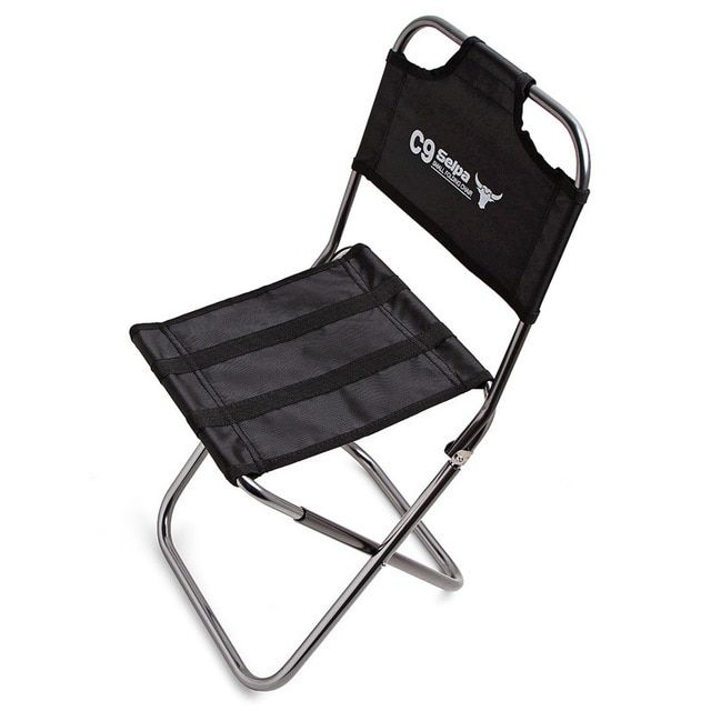 Portable Outdoor Fishing Camping Folding Chair With Oxford Cloth And Aluminum Alloy For Garden Travelling Be Folding Chair Outdoor Folding Chairs Fishing Chair