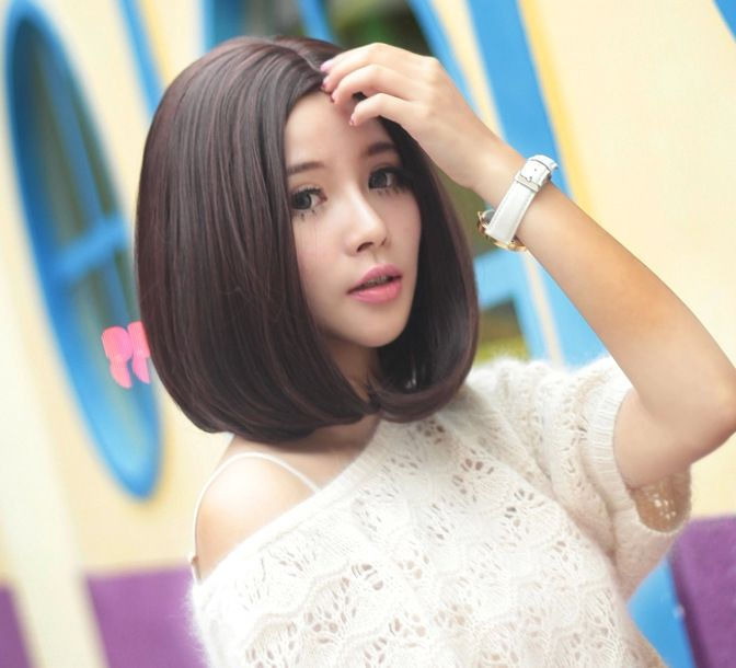 This easy-care medium-length bob is really a cute. | Bob ...