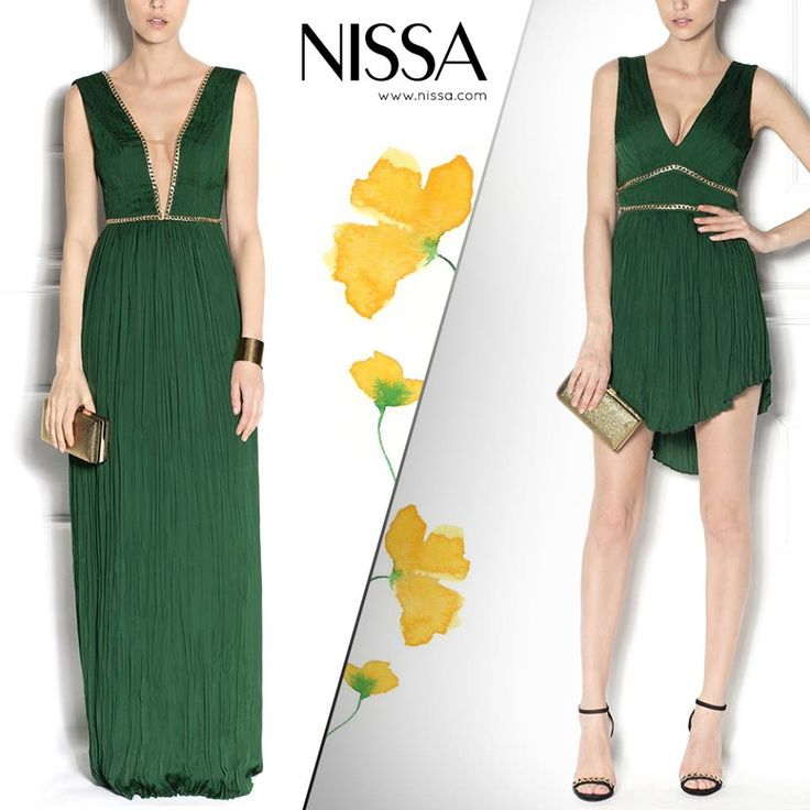 NISSA Evening Collection 2015  www.nissa.com  #nissa #evening #collection #new #ss2015 #dress #cocktail #fashion #fashionista #maxi #mini #versus #green #inspiration #glam #style #chic #look