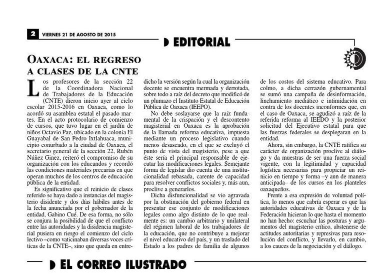 #ClippedOnIssuu from La Jornada, 08/21/2015