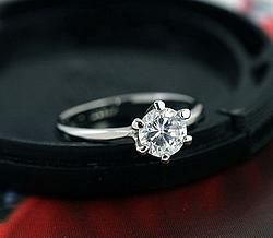 Inel logodna Silver Anne