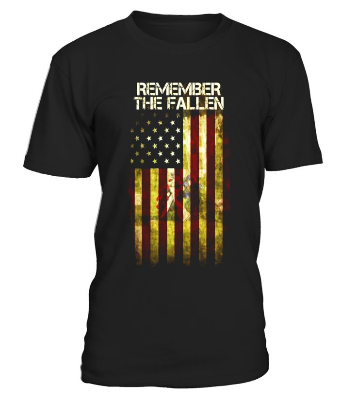 Remember The Fallen With USA Flag Awesome Veteran's Day Gift - Limited Edition  Funny Veterans Day T-shirt, Best Veterans Day T-shirt