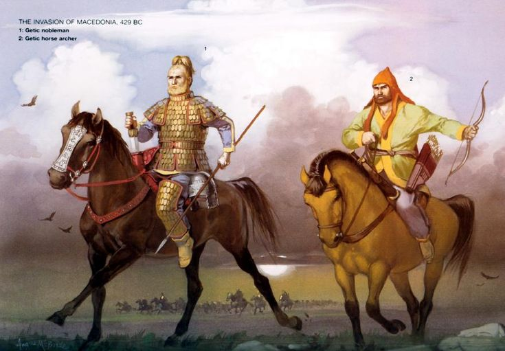 Getic Warriors, were a tribe of Thracians that were very similar to the…
