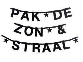 DIY, Make your own banner, Zwart - OMM design