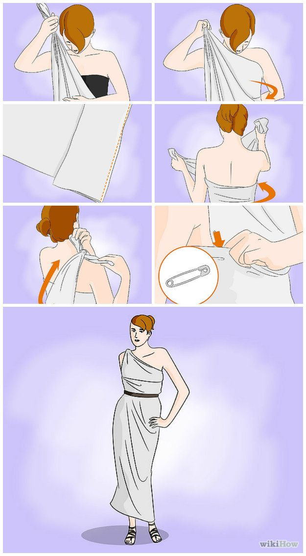 Halloween? A Grecian Goddess? A Toga From A Bed Sheet | 25 Tutorials To Teach You To Fold Things Like An Actual Adult