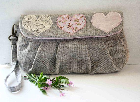 vintage fabric clutch purse - obelia