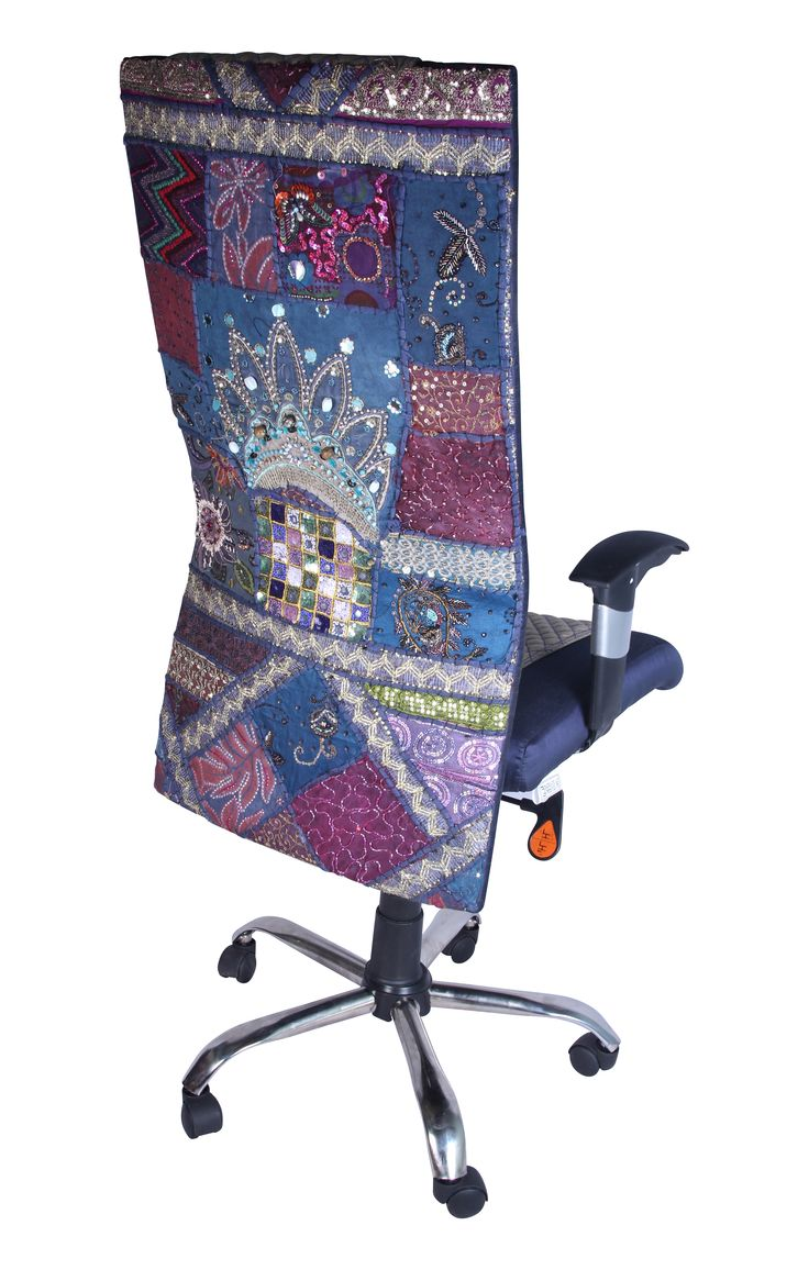 Signature Office Chair With Hand Embroidered Fabric