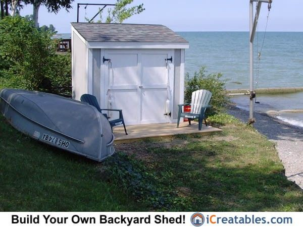 how to build a small boat shed
