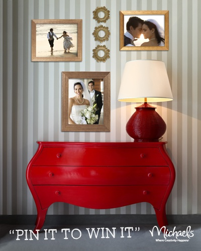 I just saw Michaels new Studio Décor Platinum Collection frames and wall décor and entered their Pin It to Win It sweepstakes for my chance to win a $500 USD Michaels gift card. Click this pin and follow the instructions to enter yourself!