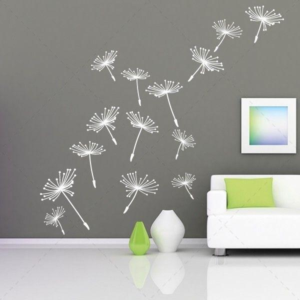 Dente-de-leão floral -vinil autocolante decorativo de parede - Iconstore.pt