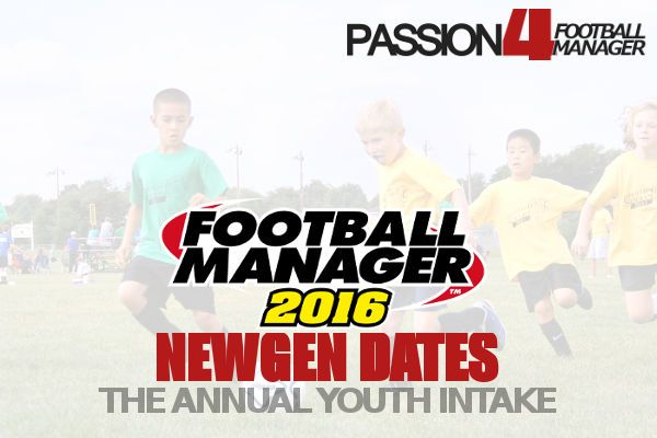 The Football Manager 2016 newgens dates lets you find new talents at specific dates. Discover new quality newgens / regens from the annual youth intake.