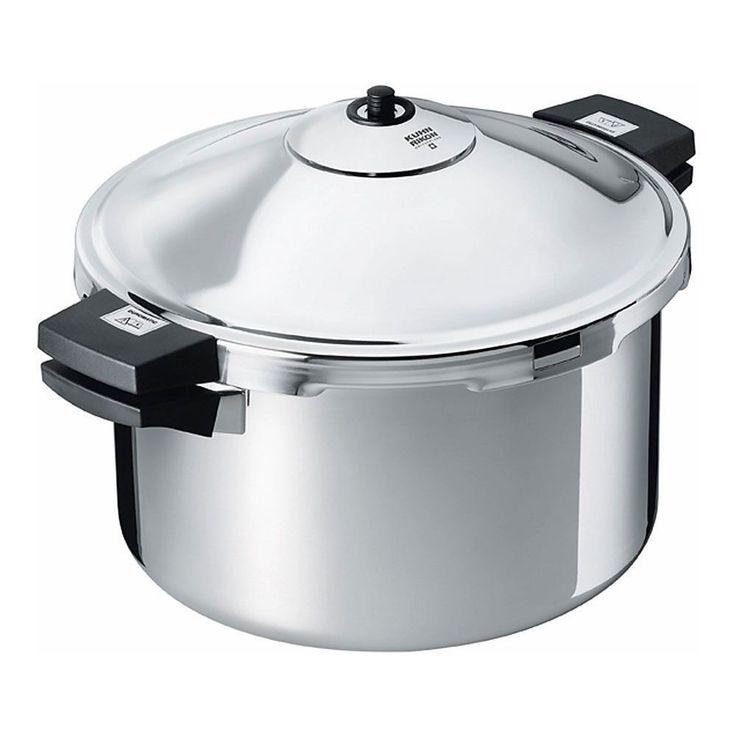 Kuhn Rikon 30333 Duromatic 12 Quart Stockpot Pressure Cooker, Silver stainless steel (Aluminum)