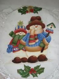 pintura navideña sobre tela - Buscar con Google
