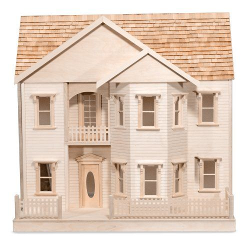 Amazon.com: Melissa & Doug The House That Jack Built Dollhouse - Rose Marie: Melissa & Doug: Toys & Games
