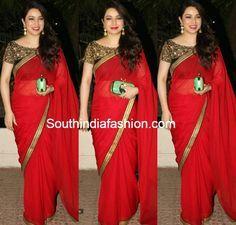 Tisca in Ravishing Red Saree ~ Celebrity Sarees, Designer Sarees, Bridal Sarees, Latest Blouse Designs 2014