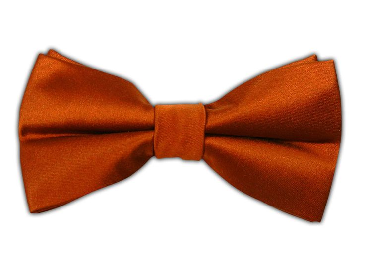 solid satin burnt orange bow tie wedding trends orange