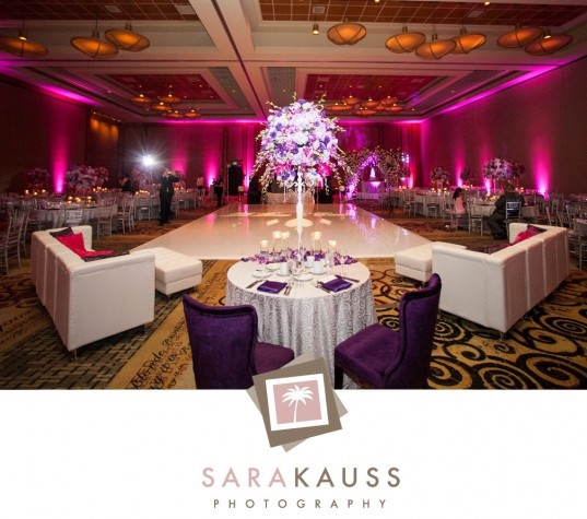Reception Room Lounge Seating : Hard Rock Hotel Wedding