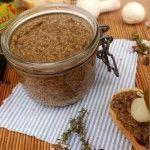 Pâté végétal aux lentilles, champignons de Paris et thym