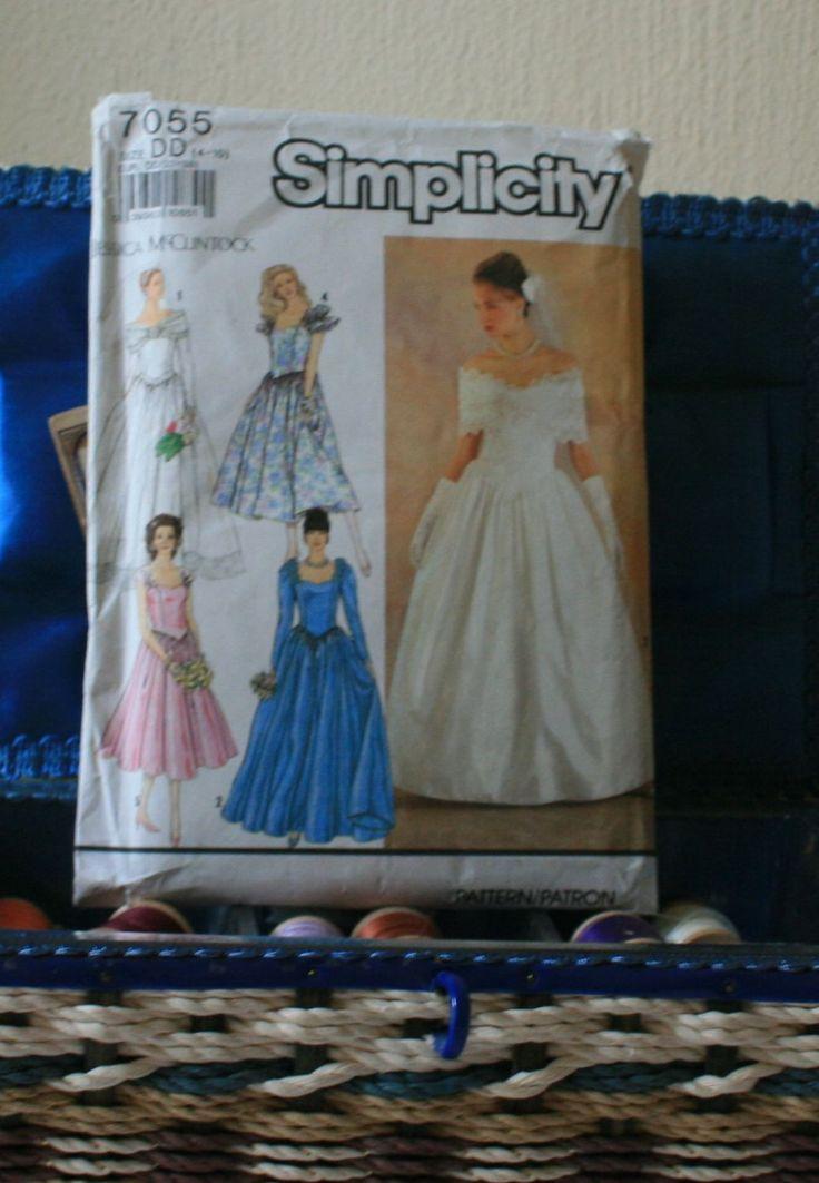 1990s Jessica McClintock wedding dress pattern size 4-10 victorian steampunk princess by FadedPrimaDonnaVntg on Etsy