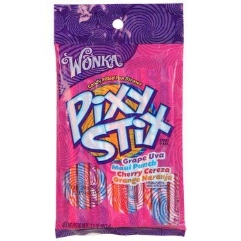 Wonka Pixy Stix, 3.2-oz. Bag