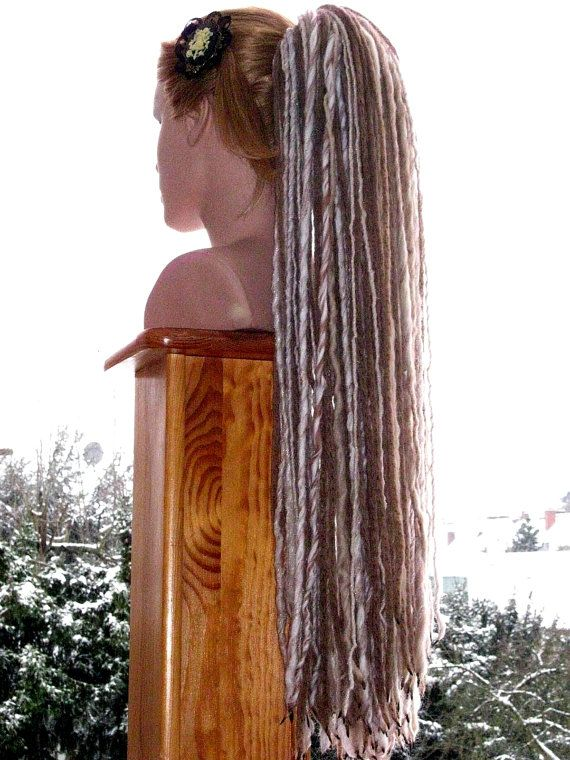DARK BLONDE DREADLOCKS yarn dread falls 112 by MagicTribalHair
