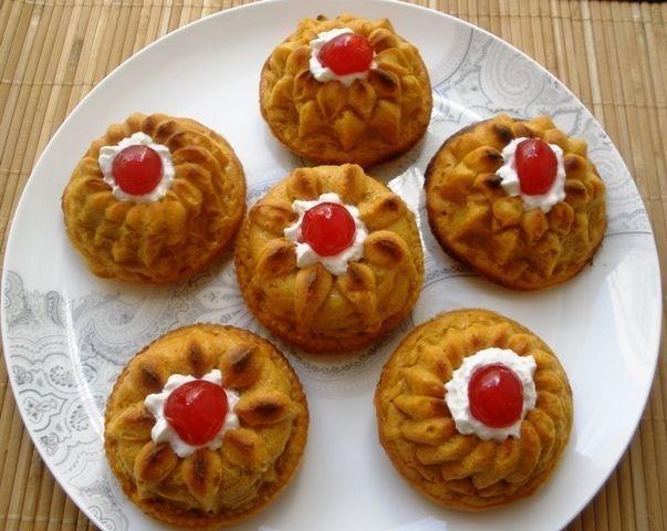 Pastelitos de boniato rellenos de nata, Receta Petitchef
