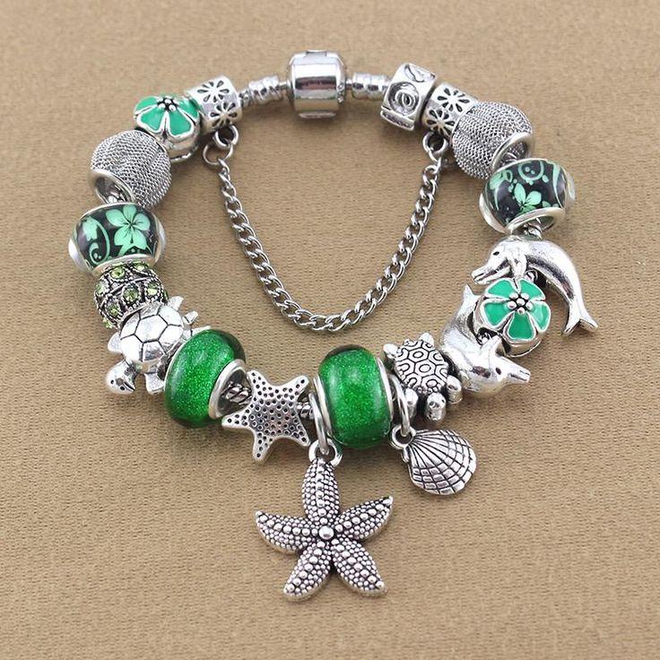 Starfish / Dolphin / Sea Turtle Charm Bracelet - Free Shipping!