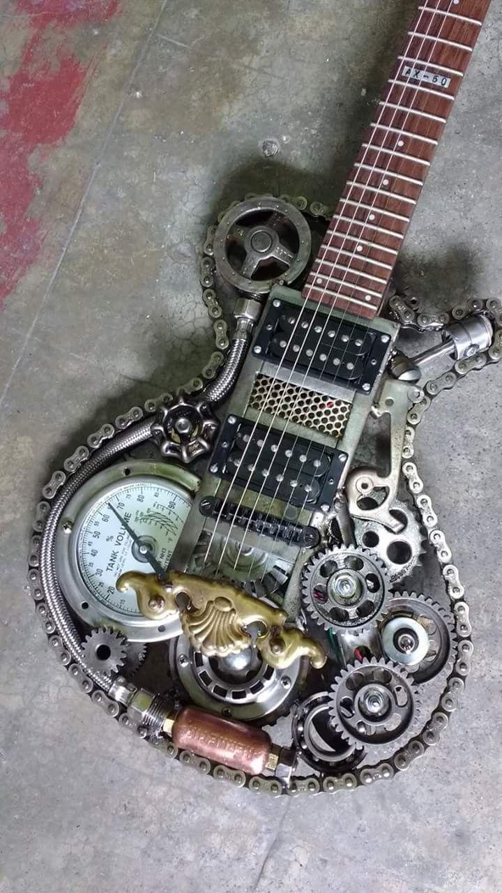 A sweet Steampunk guitar! -- PJN