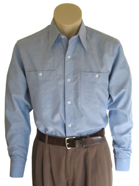 blue collar work shirt vintage 1930 1940 39 s clothing by