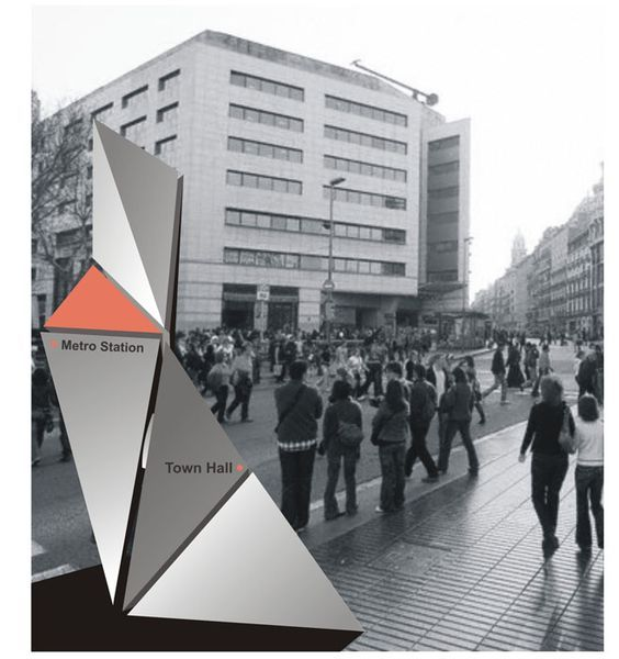 sculptural signage: