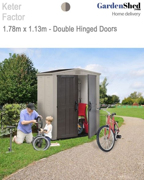 KeterGarden Shed • 2year warranty. Maintenance Free - Too Easy!