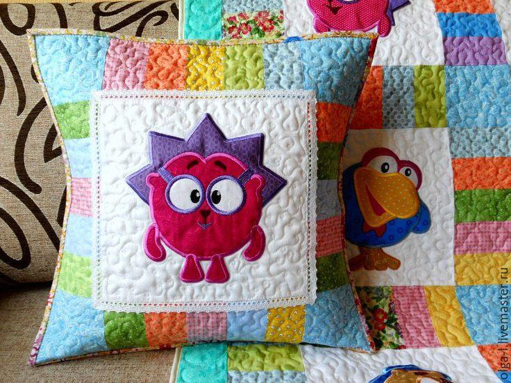 """Купить Комплект """"Смешарики"""" Пэчворк. Квилтинг. Аппликация. - детское одеяло, детские пледы, покрывало детское"""
