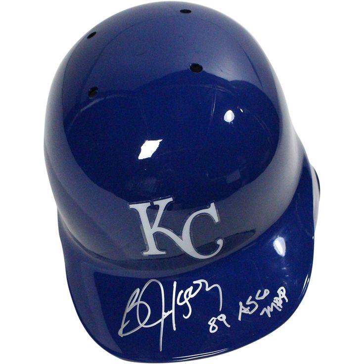 """Steiner Bo Jackson Signed Kansas City Royals Left Ear Flap Batting Helmet w/ """"89 ASG Mvp"""" Insc"""