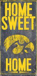 Iowa Hawkeyes Wood Sign - Home Sweet Home 6x12