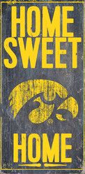 Iowa Hawkeyes Wood Sign - Home Sweet Home 6x12