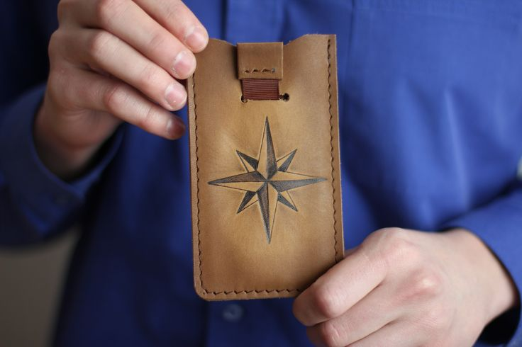 """iPhone case """"The Wind Rose"""". The material of product is the natural leather. There is burned image of the wind rose on the front part. We will can make specially case for your cellphone with your image. 18.69$ (isn't including shipping) #leathercase #tablet #iphone #handmade #russianhandmade #russian #russian_handmade #naturalleather #leather #cover #windrose #case"""