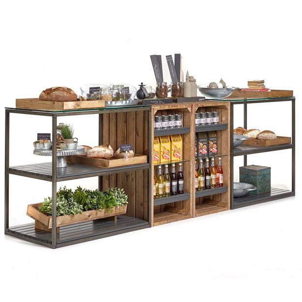 Counter019 Rustic Retail Displays 3m Long En 2020 Muebles Para Negocios Almacenaje De Cocina Muebles