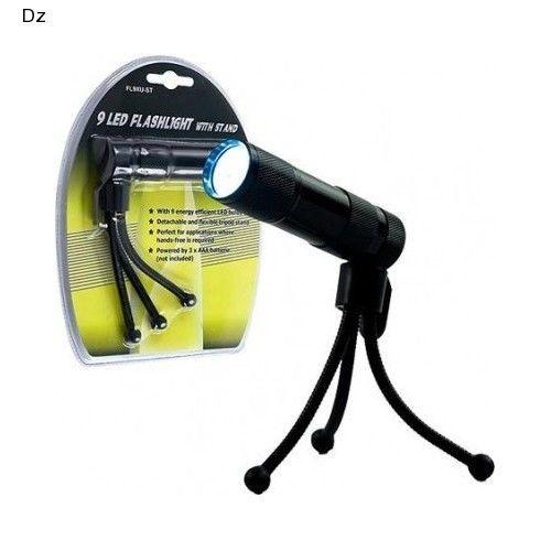 Hands Free Flashlight Adjustable Tripod Portable Direct Light Shop Auto Camping
